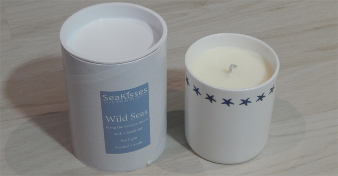 sea kisses soy candle
