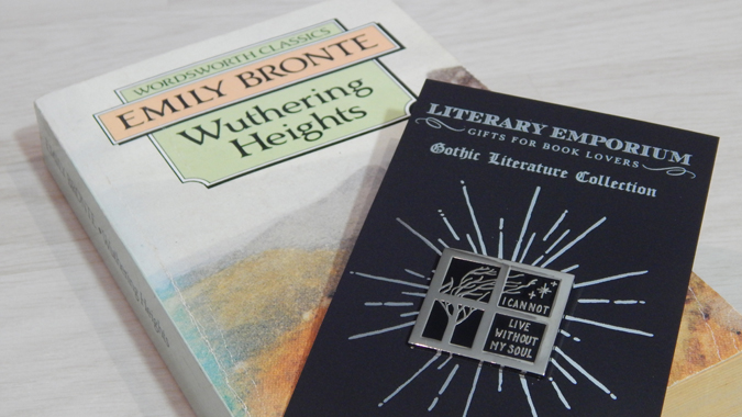 wuthering heights pin badge from Literary Emporium