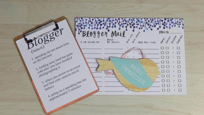 blogging stationery