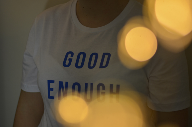 Good Enough t-shirt from The School of Life