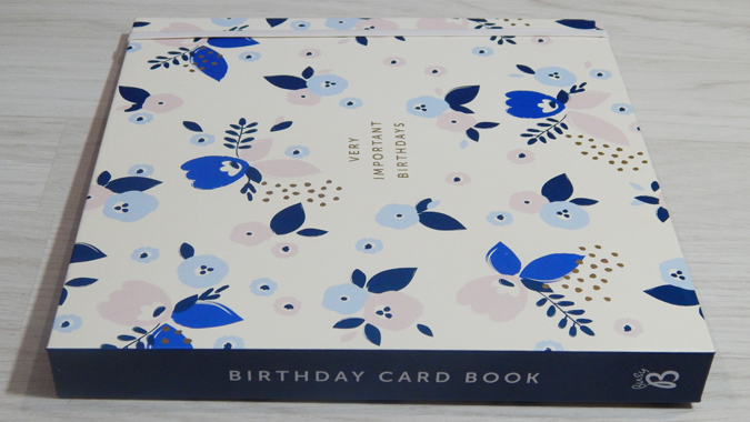 Pretty birthday card book from Busy B