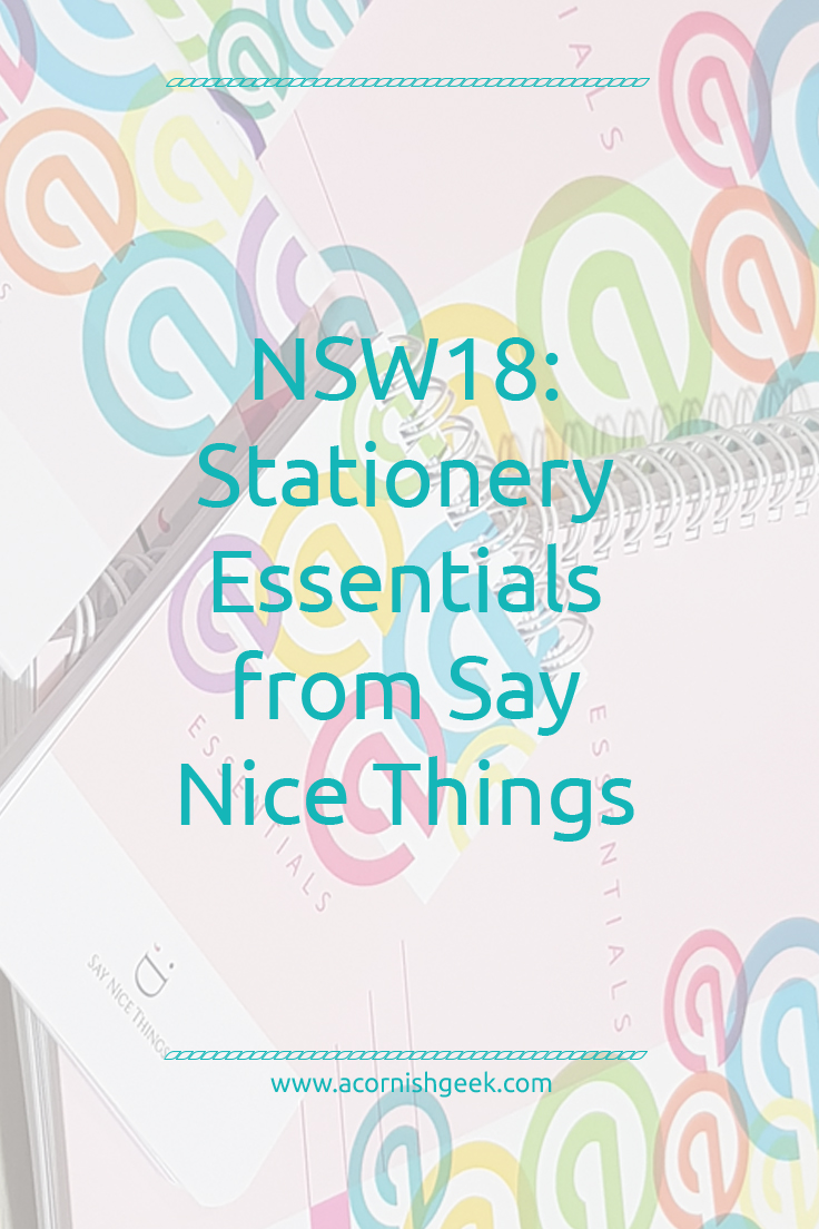 Say Nice Things Essentials stationery
