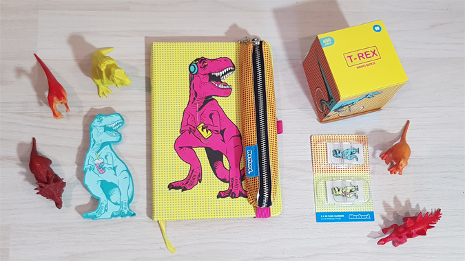 T-Rex stationery from Mustard