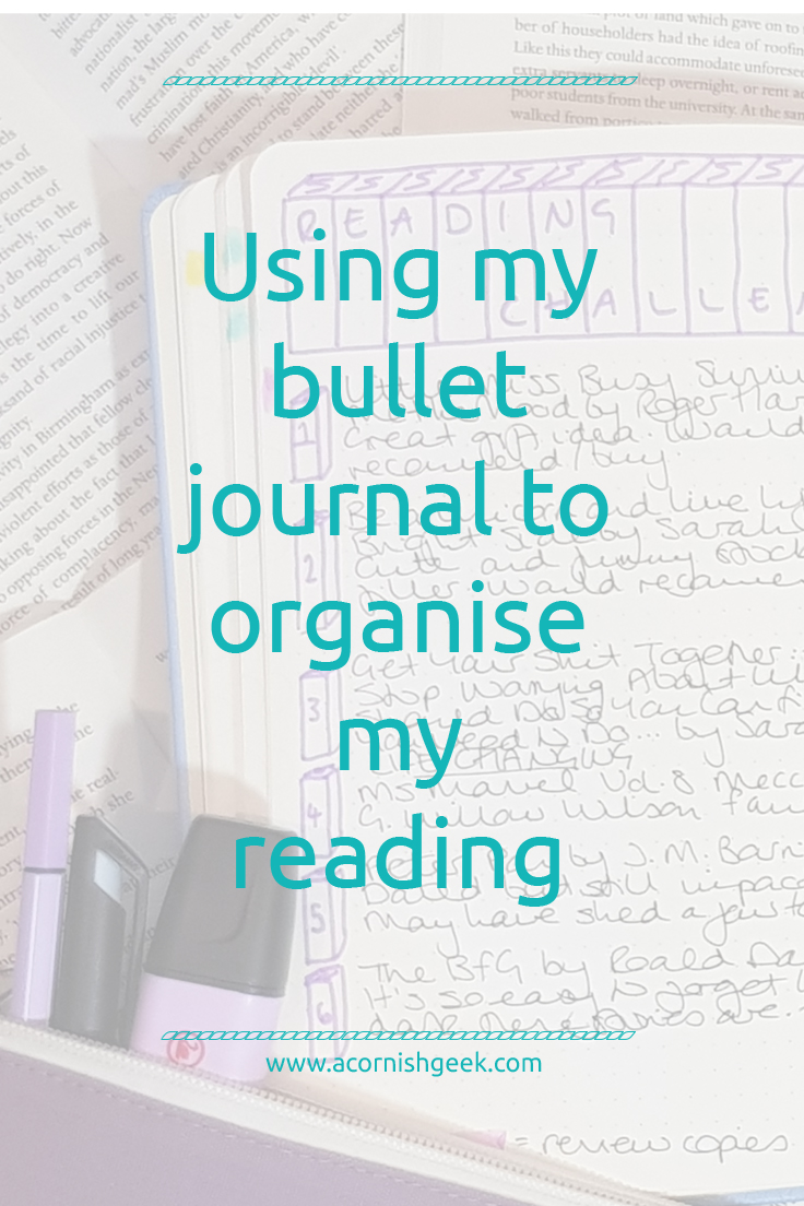 Using my bullet journal to organise my reading