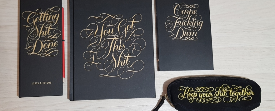 Calligraphuck stationery
