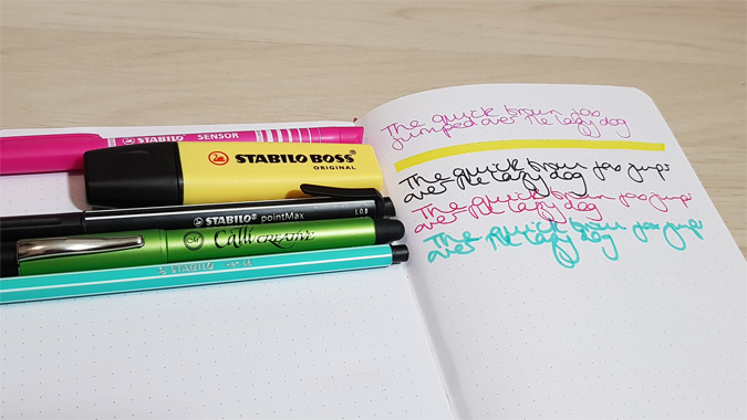 T-Rex dot grid notebook from Mustard review