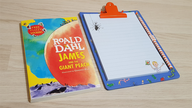 James and the Giant Peach stationery from Portico Designs