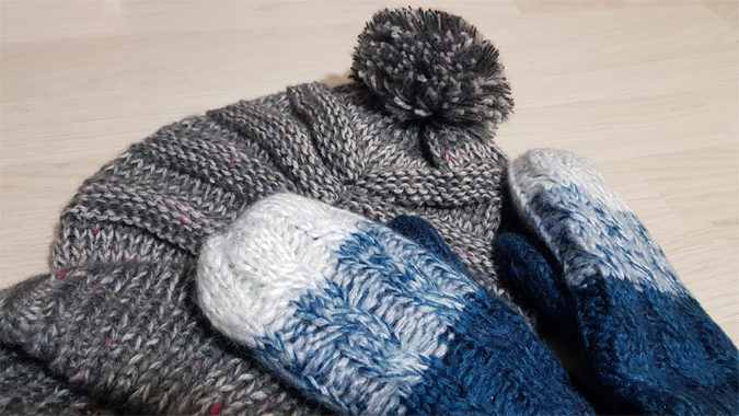 Hat and gloves from Mountain Warehouse
