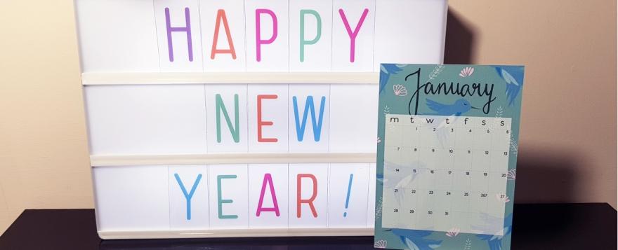 Not Only Polka Dots desktop calendar