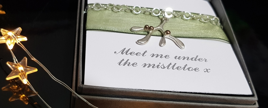 Mistletoe bracelet from Carole Allen Jewellery