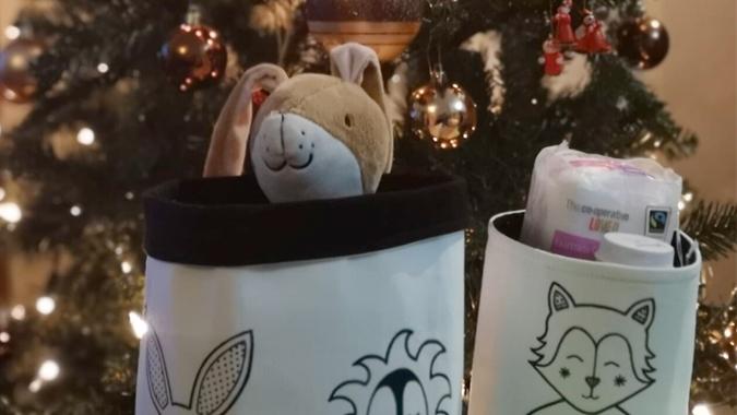 MariaRosaDesign fabric storage buckets