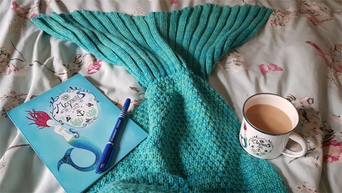 Mermaid mug and notebook from Glitter & Earth