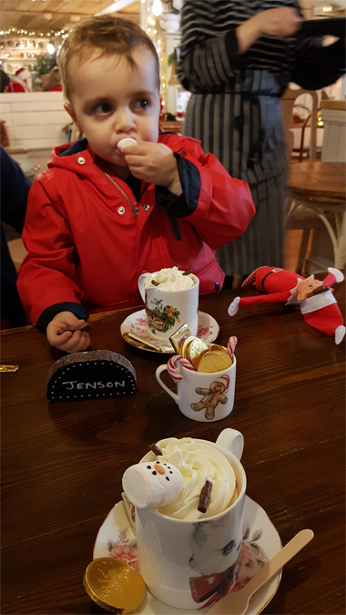 Hot chocolate with Father Christmas at The Rock Pool