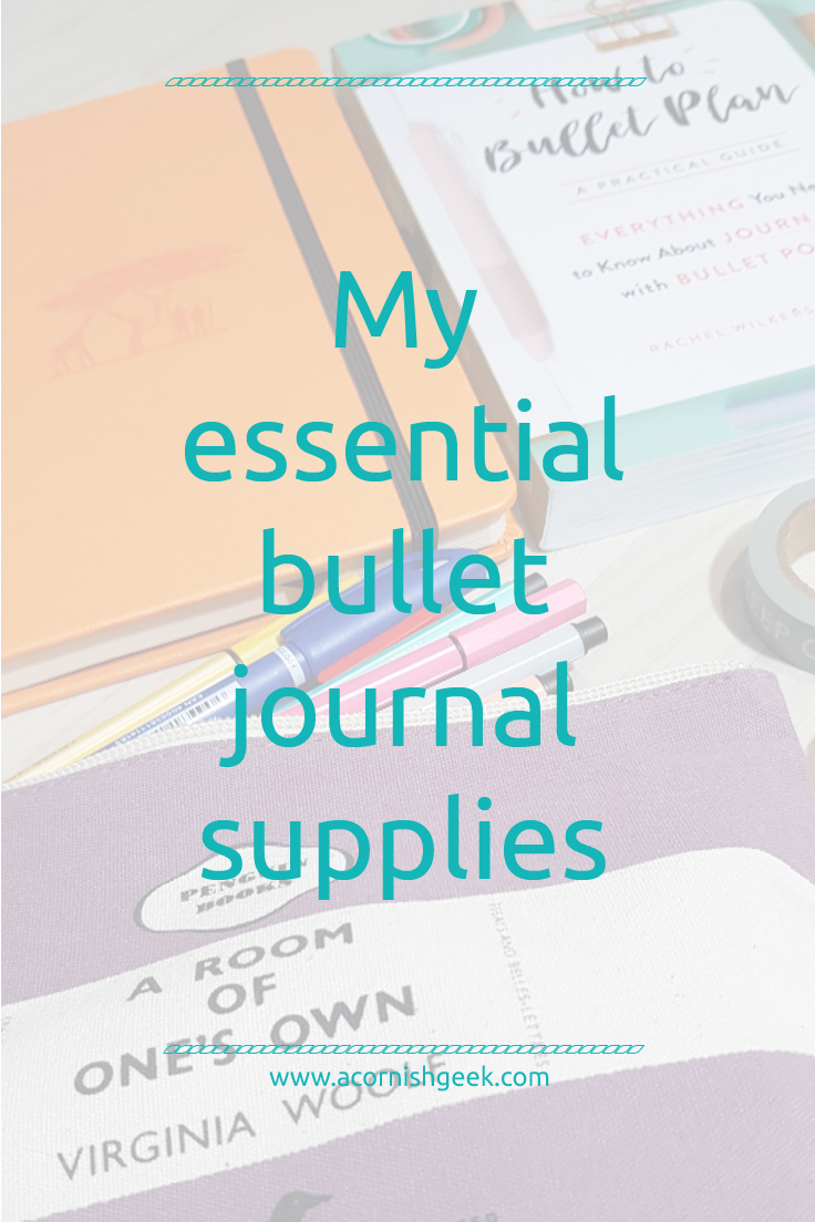 My essential bullet journal supplies