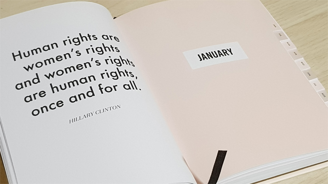 The Feminist Agends - 12 month planner - review