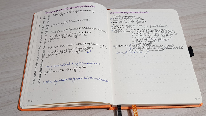 Inside my bullet journal - February 2019