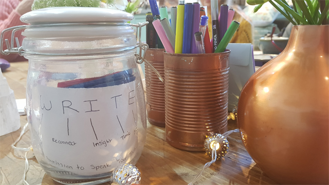 Creative journaling and mindfulness workshop with Love Light Lexi