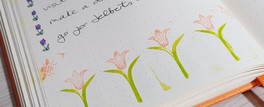 Spring 2019 bucket list - bullet journal update
