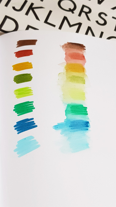 Staedtler watercolour brush pens