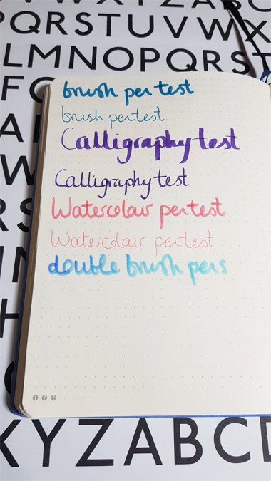 Staedtler calligraphy and brush pens