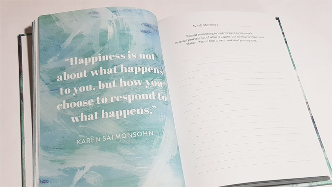Forward Thinking well being, happiness and fulfillment journal - review