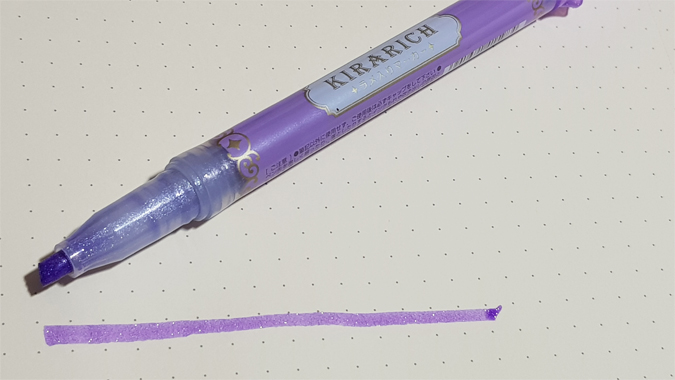 Zebra Kirarich Glitter Highlighter pen