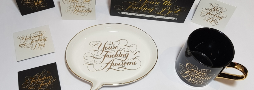 Calligraphuck - sweary stationery and home accessories