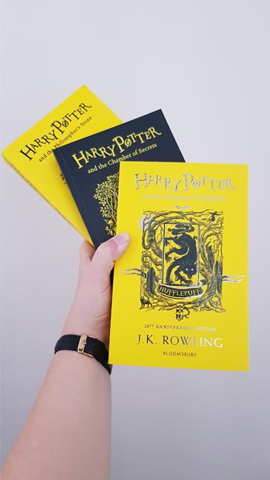 Harry Potter Hufflepuff 20th anniversary editions