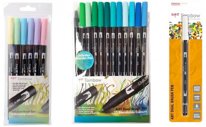 Tombow pens from Craft Stash