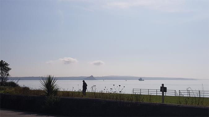 Morning seaside stroll