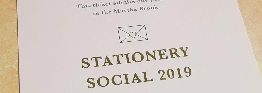 Martha Brook Stationery Social 2019