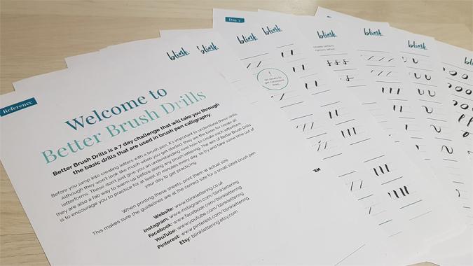 Blink Lettering Better Brush Drills - review