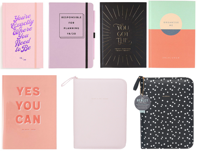 Back to school stationery shopping -diaries and journals