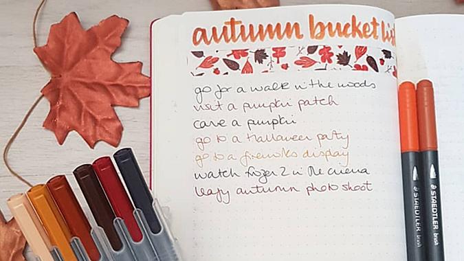 2019 autumn bucket list