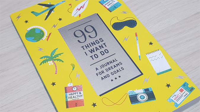 99 Things I Want To Do journal from Abrams + Chronicle - review