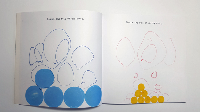 Draw Here by Hervé Tullet - activity book review