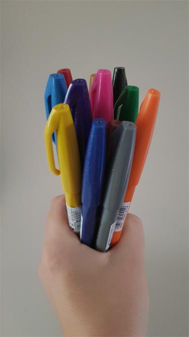 Pentel Touch pens