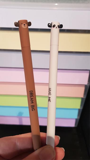 Kawaii erasable pens from Ryman
