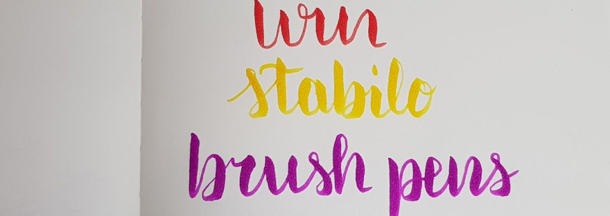 Stabilo Pen 68 brush pen review and giveaway