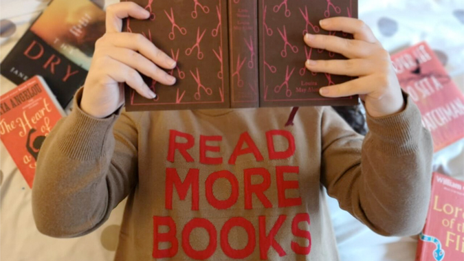 Read More Books sweater from Joanie Clothing