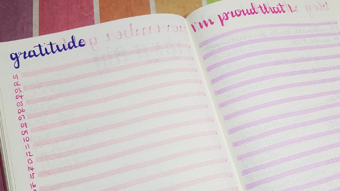 Bullet journal spreads
