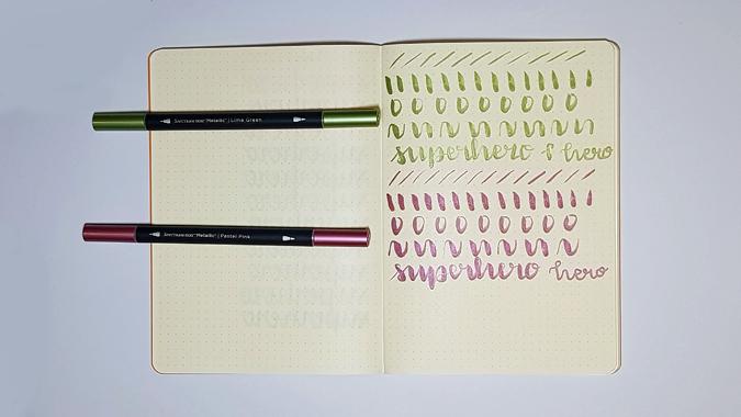 Spectrum Noir Metallic brush pens