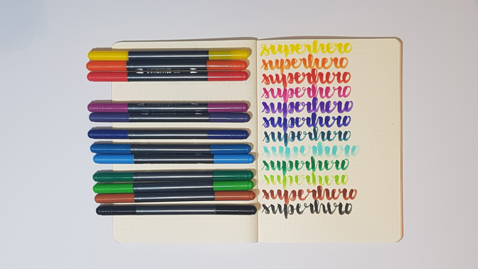 Staedtler brush pens