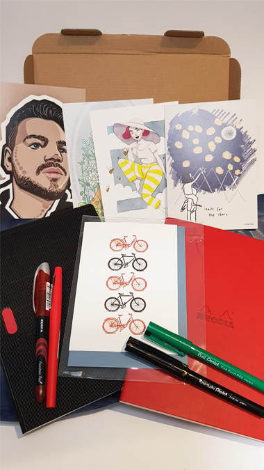 Red & Black Stationery Subscription Box from Spotlight Stationery - review