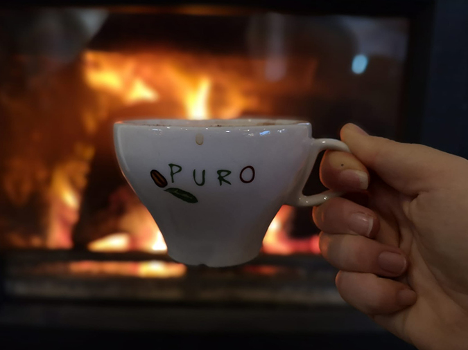 Coffee by the fire, 2019