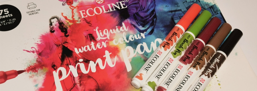 Ecoline brush pen and watercolour paper review
