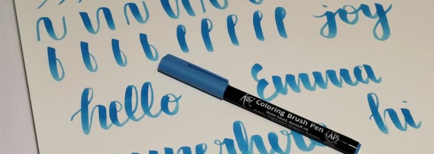 Sakura Koi brush pen review