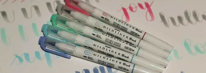 Zebra mildliner brush pen review